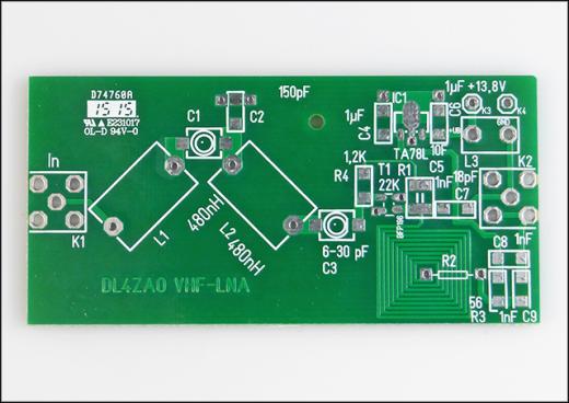 Platine 50/70-MHz-Vorverstärker, unbestückt