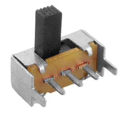Schiebeschalter für Leiterplattenmontage, 1P2T, Knopflänge: 7mm