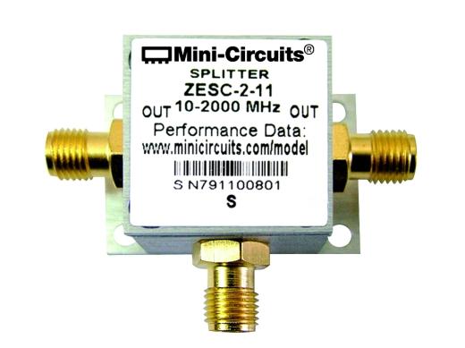 Power-Splitter/Combiner 10 MHz - 2000 MHz, 1 W, SMA-Buchsen