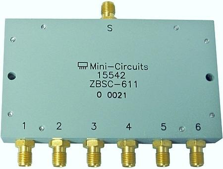 Power-Splitter/Combiner 10 MHz - 200 MHz, 1 W mit SMA-Buchsen