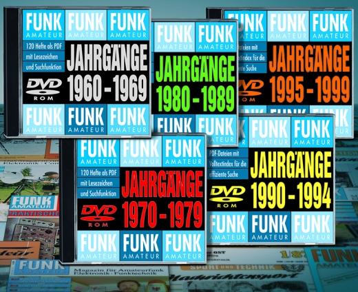 5 FUNKAMATEUR-Archiv-DVDs 1960-1999 – Abonnentenpreis