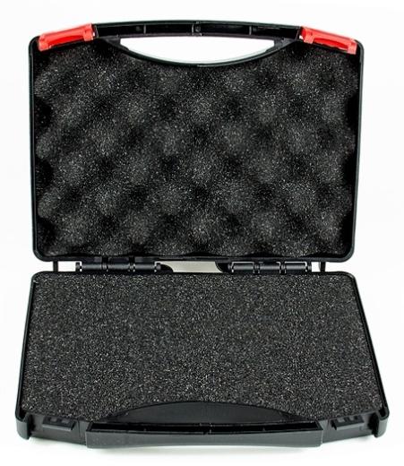 Universal-Transportkoffer mit individuell gestaltbarer Würfel-Schaumeinlage