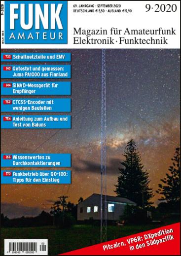 FUNKAMATEUR 9 · 2020  Das aktuelle Heft