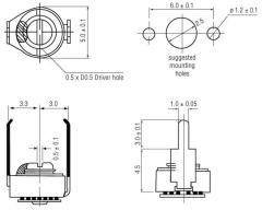 MCT-8/40   Keramischer Miniaturtrimmer 8 … 40 pF