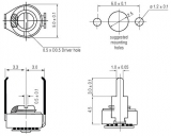 MCT-2/5   Keramischer Miniaturtrimmer 2 … 5 pF