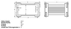 Alu-Design-Gehäuse 100x80x42 (TxBxH)