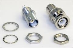 BNC-Einbaubuchse und -stecker für Filtergehäuse