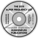 Klingenfuss Super Frequency List 2018 on CD-ROM