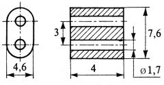 10 Ferrit-Doppellochkerne MF340