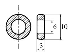 5 Ferrit-Ringkerne K5000