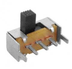 Schiebeschalter für Leiterplattenmontage, 1P2T, Knopflänge: 5mm