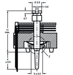 Folientrimmer 2-17 pF ø 10 mm