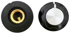 Drehknopf für 6-mm-Achse, Außendurchmesser: 19 mm