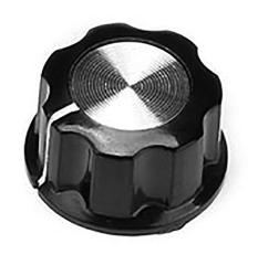 Drehknopf für 6-mm-Achse, Außendurchmesser: 27 mm