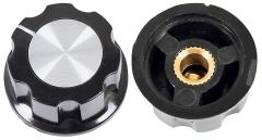 Drehknopf für 6-mm-Achse, Außendurchmesser: 23 mm