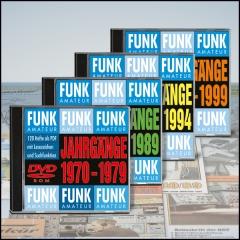 4 FUNKAMATEUR-Archiv-DVDs 1970-1999