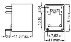 Miniaturrelais FRS1B 12 V