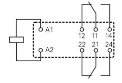 Leistungsrelais RT424024 (Schrack)