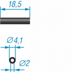 10 Ferrithülsen, 18,5x 4,1 mm, Material K900