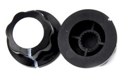 Drehknopf für 5,9-mm-Achse, Außendurchmesser: 19 mm