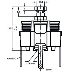 Folientrimmer 3-18 pF ø 7,5 mm