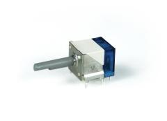 Miniaturdrehschalter 2S/1E/blau