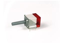 Miniaturdrehschalter 2S/1E/rot