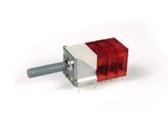 Miniaturdrehschalter 9S/3E/rot