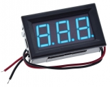 3 stelliges LED-Display / Voltmeter (blau)