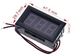 3 stelliges LED-Display / Voltmeter (grün)