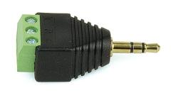 Anschlussblock 2,5-mm-Klinke  3 Leitungen