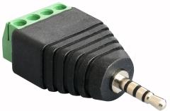 Anschlussblock 2,5-mm-Klinke  4 Leitungen