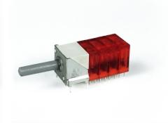 Miniaturdrehschalter 10S/4E/rot